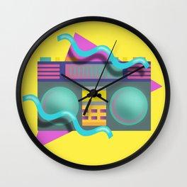 Retro Eighties Boom Box Graphic Wall Clock