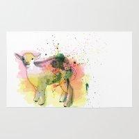 sheep Area & Throw Rugs featuring Sheep by Barbara_Baumann_Illustration