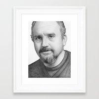 louis ck Framed Art Prints featuring Louis CK by Olechka
