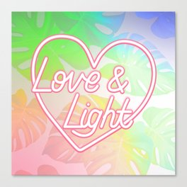 Love & Light - Rainbow Canvas Print
