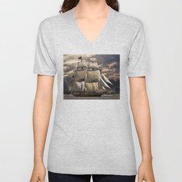 Brig Sailing Vessel Unisex V-Neck