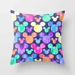 Mickey Mouse Bright Arrows Throw Pillow