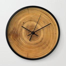 Tree Rings Natural Wall Clock