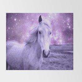 Lavender Horse Celestial Dreams Throw Blanket