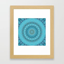 Mandala moments of happiness Framed Art Print