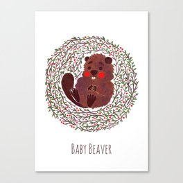 Baby Beaver Canvas Print