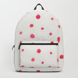 Pink red watercolor hand painted polka dots Backpack