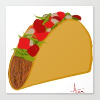 taco Canvas Prints featuring Taco by AlexavierTaiga