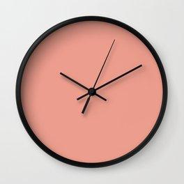 Peach Blush Solid Color Block Wall Clock