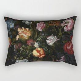 Jacob Vosmaer - A Vase with Flowers Rectangular Pillow