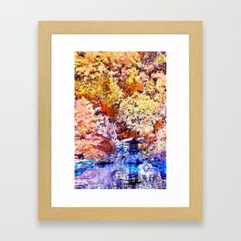 Autumn Infrared and Unreal Framed Art Print