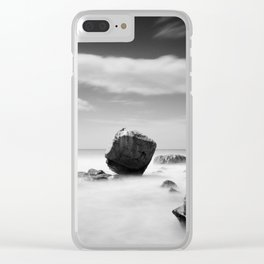 Standing out of the Crowd - A long exposure Seascape Clear iPhone Case