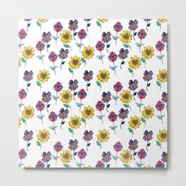 sassy floral Metal Print
