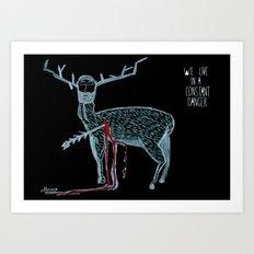 Vivimos en un peligro constante (We live in a constant danger) Art Print