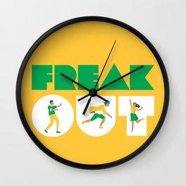 Freak Out Wall Clock