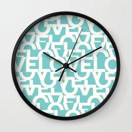 Hidden blue LOVE message Wall Clock
