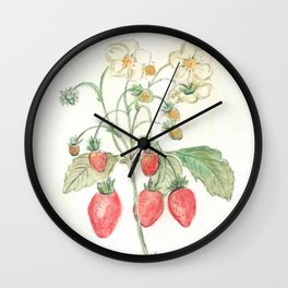 Fragaria x Ananassa Wall Clock