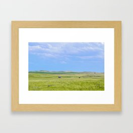 Fading into the Prairie, Near Carlyle, Montana Framed Art Print