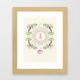 yoga garden VI Framed Art Print