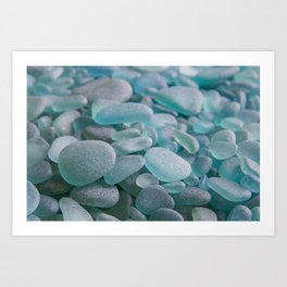 Japanese Sea Glass - Low Tide Blues III Art Print