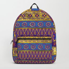 Colorful African Ethnic Tribal Pattern Backpack