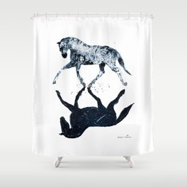 Horses (Day&Night II) Shower Curtain
