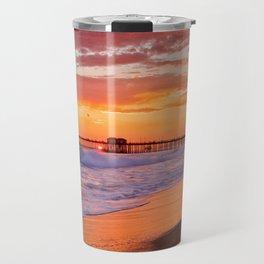 Monsoon Sunset / Huntington Beach Pier  9/9/15 Travel Mug