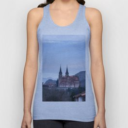 Basilica of Covadonga in the mountains, Spain Unisex Tank Top