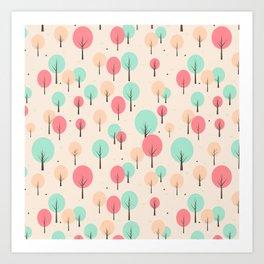 Pastel Forest Art Print