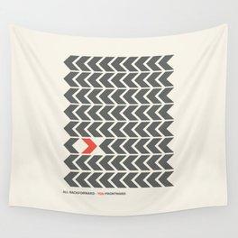 All backfroward - You frontward Wall Tapestry