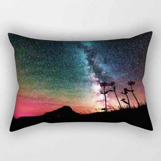 Colorful Milky Way Landscape Rectangular Pillow