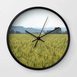 Country Fields Wall Clock