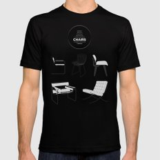 CHAIRS - A tribute to seats (special edition) Mens Fitted Tee MEDIUM Black