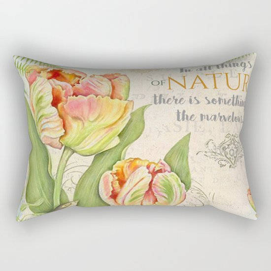 Vintage Flowers #26 Rectangular Pillow