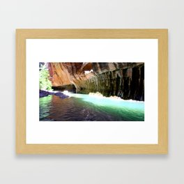 The Narrows Hike Framed Art Print