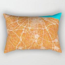 Bari, Italy, Gold, Blue, City, Map Rectangular Pillow