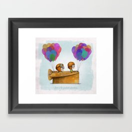 UP Pixar — Love is the greatest adventure  Framed Art Print