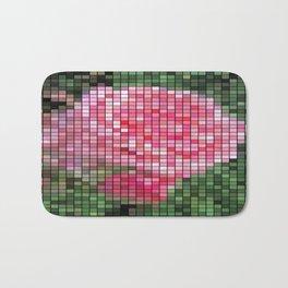 Pink Roses in Anzures 2 Mosaic Bath Mat