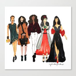 Glam Girls, Pinales Illustrated Canvas Print