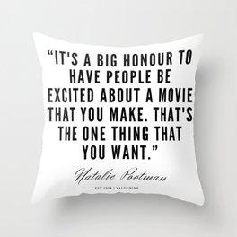 12    | Natalie Portman Quotes | 190721 Throw Pillow