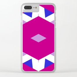 CVPA20098 Benny Frank Pink Purple Blue White Clear iPhone Case