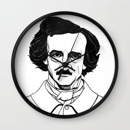 Edgar Allan Poe by Aubrey Beardsley 1926 Wall Clock