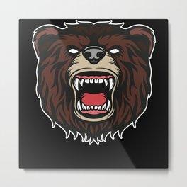 Bear People Not A Big Fan Bears Nature Animal Gift Metal Print