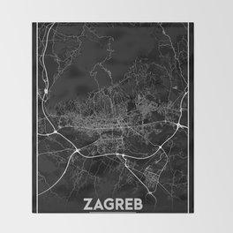Minimal City Maps - Map of Zagreb Throw Blanket