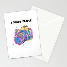 I Shoot People Funny Camera Photographer Photography Photo Studio Stationery Cards