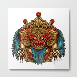Barong Mask Metal Print