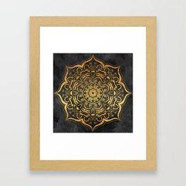 Gold Mandala Framed Art Print