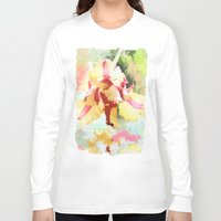 water colour Long Sleeve T-shirts featuring Water colour parrot tulip by thea walstra