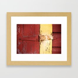 Red and Yellow 1 Framed Art Print