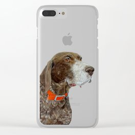 Anja the German Shorthair Pointer Clear iPhone Case